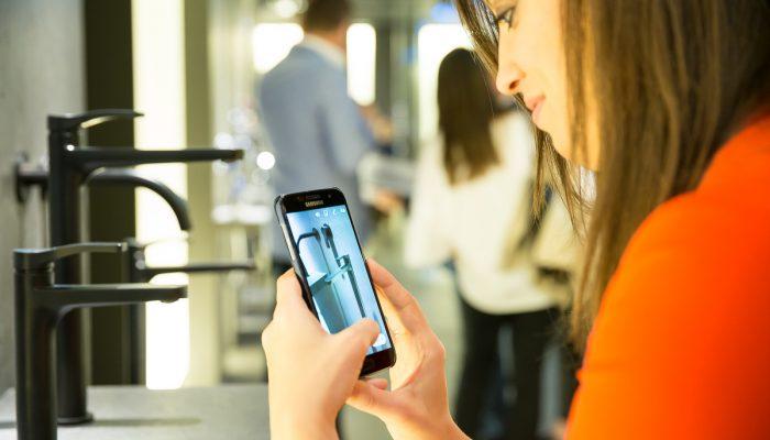 Fotografi social media Milano Design Week Salone del Mobile, social media rubinetterie