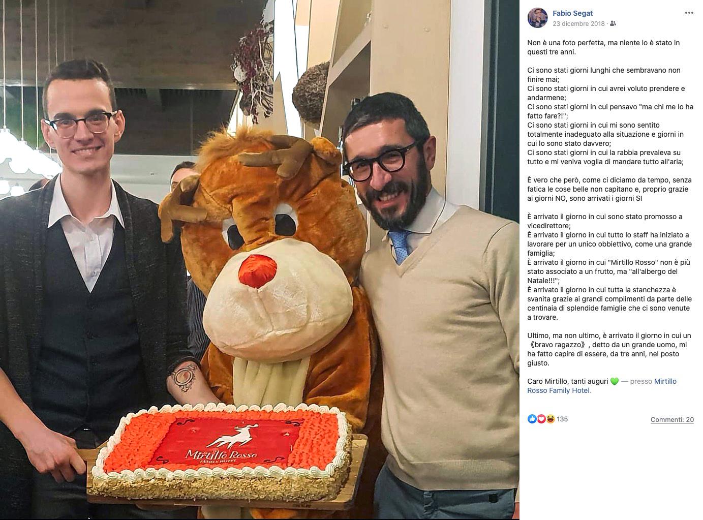 Personal storytelling, Mirtillo Rosso, Fabio Segat