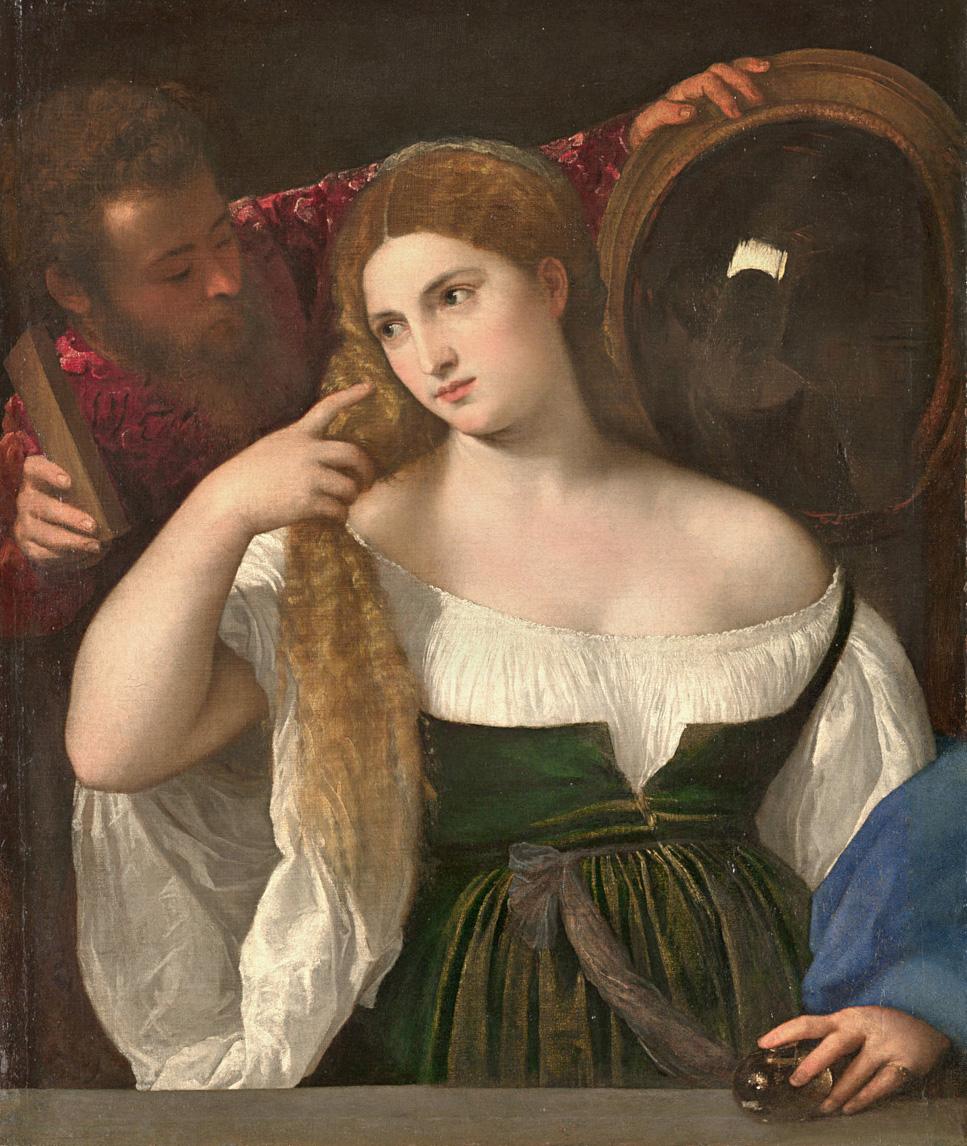 Vanita Tiziano, Donna allo specchio
